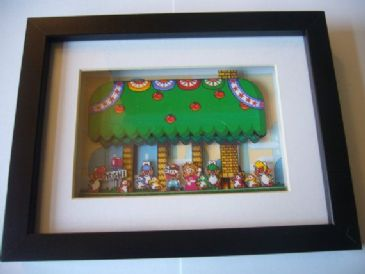 Super Mario World Yoshi's House 3D Diorama Shadow Box